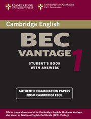 Cambridge BEC Vantage 1