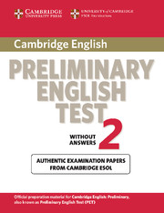 Cambridge Preliminary English Test 2 Student's Book