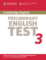 Cambridge Preliminary English Test 3 Student's Book