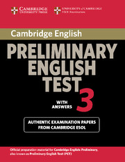 Cambridge Preliminary English Test 3