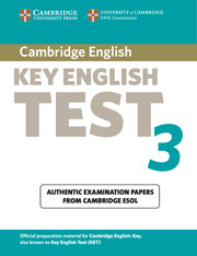 Cambridge Key English Test 3 Student's Book