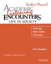 Academic Listening Encounters: Life in Society