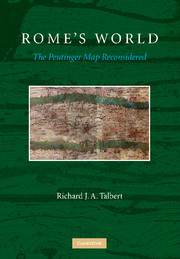 Cover of Rome's World: The Peutinger Map Reconsidered by Richard J. A. Talbert