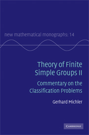 Theory of Finite Simple Groups II