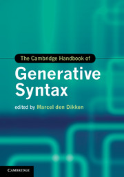 The Cambridge Handbook of Generative Syntax