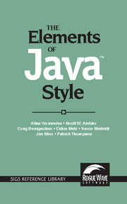 The Elements of Java™ Style
