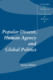 Popular Dissent, Human Agency and Global Politics
