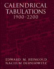 Calendrical Tabulations, 1900–2200