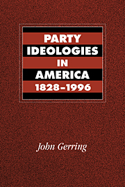 Party Ideologies in America, 1828–1996