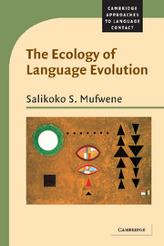 The Ecology of Language Evolution