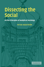 Dissecting the social by peter hedstrom on the principles of analytical sociology fandeluxe Gallery