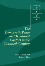 The Democratic Peace and Territorial Conflict in the Twentieth Century