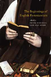 The Beginnings of English Protestantism