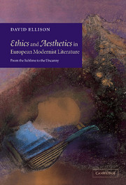 Ethics and Aesthetics in European Modernist Literature