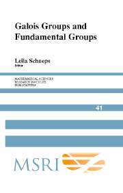 Galois Groups and Fundamental Groups