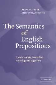 The Semantics of English Prepositions