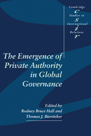 The Emergence of Private Authority in Global Governance