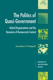 The Politics of Quasi-Government