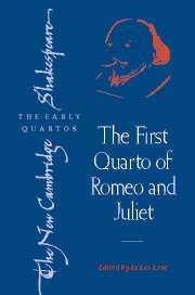The First Quarto of Romeo and Juliet