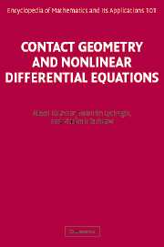 Contact Geometry and Nonlinear Differential Equations