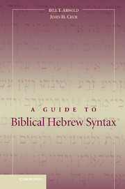 A Guide to Biblical Hebrew Syntax by Bill T  Arnold