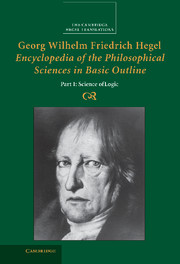 Georg Wilhelm Friedrich Hegel: Encyclopedia of the Philosophical Sciences in Basic Outline