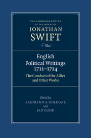 English Political Writings 1711–1714