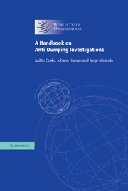 A Handbook on Anti-Dumping Investigations