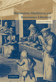 Humanism, Machinery, and Renaissance Literature