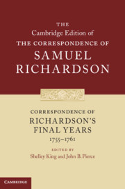 Correspondence of Richardson's Final Years (1755–1761)