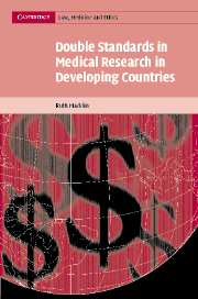 Double Standards in Medical Research in Developing Countries