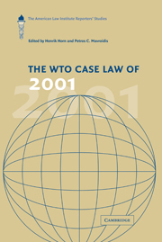 The WTO Case Law of 2001