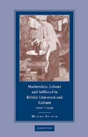 Modernism, Labour and Selfhood in British Literature and Culture, 1890–1930