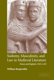 Sodomy, Masculinity and Law in Medieval Literature
