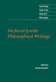 Medieval Jewish Philosophical Writings