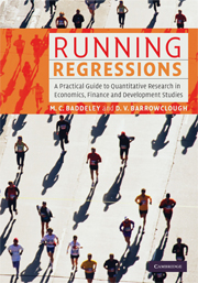 Running Regressions