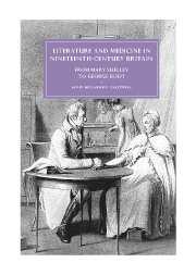Literature and Medicine in Nineteenth-Century Britain