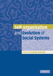 Self-Organisation and Evolution of Biological and Social Systems
