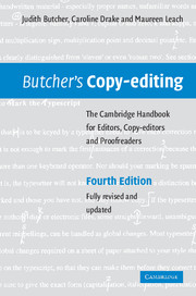 Butcher's Copy-editing