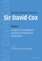 Selected Statistical Papers of Sir David Cox