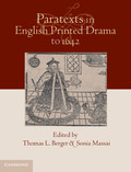 Paratexts in English Printed Drama to 1642