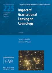 Impact of Gravitational Lensing on Cosmology (IAU S225)