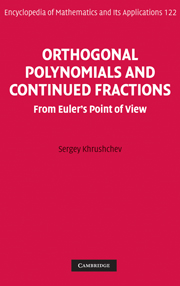 Orthogonal Polynomials and Continued Fractions