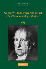 Georg Wilhelm Friedrich Hegel: <I>The Phenomenology of Spirit</I>