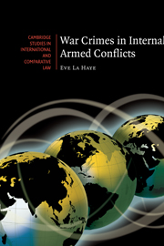 War Crimes in Internal Armed Conflicts