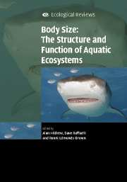 Body Size: The Structure and Function of Aquatic Ecosystems