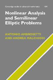 Nonlinear Analysis and Semilinear Elliptic Problems