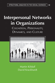 Interpersonal Networks in Organizations