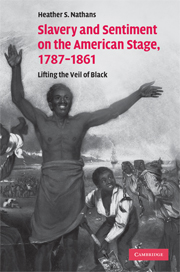 Slavery and Sentiment on the American Stage, 1787–1861