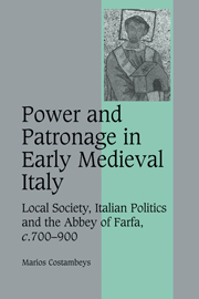 Power and Patronage in Early Medieval Italy